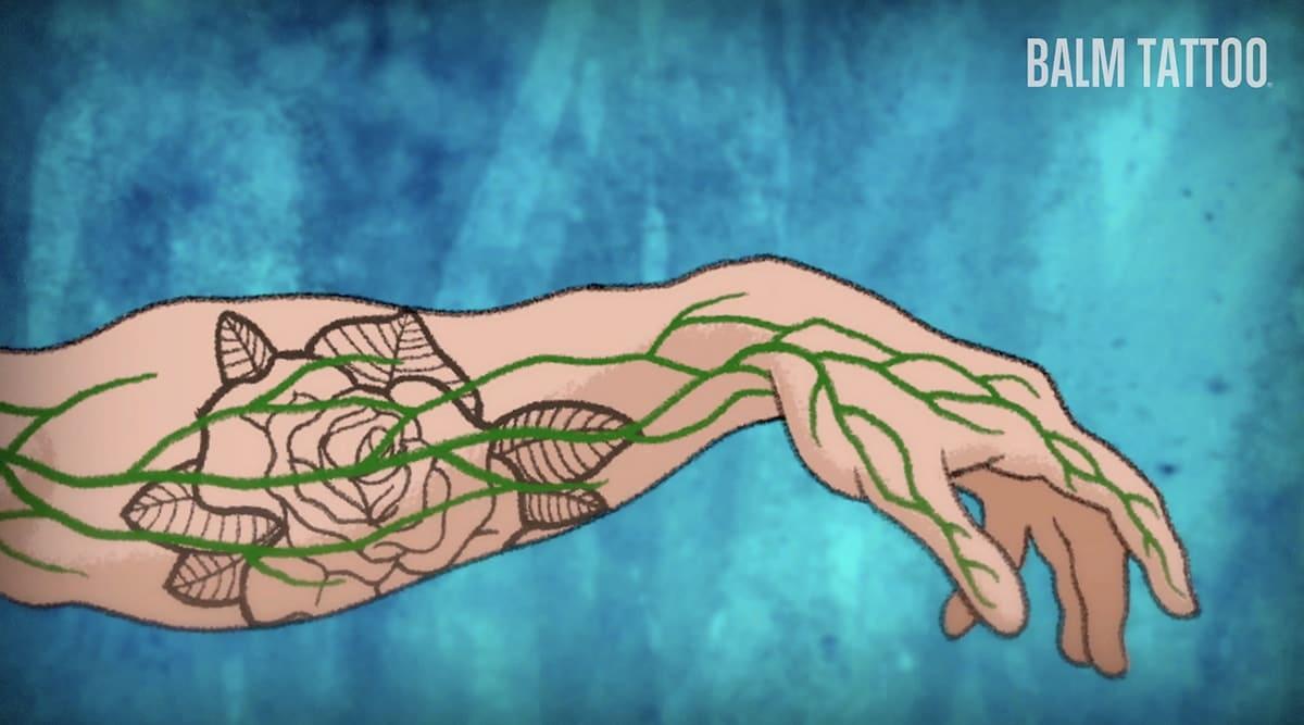 układ limaftyczny tatuaż